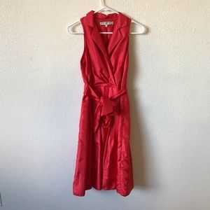 EVAN PICONE RED FLARE DRESS SIZE 4